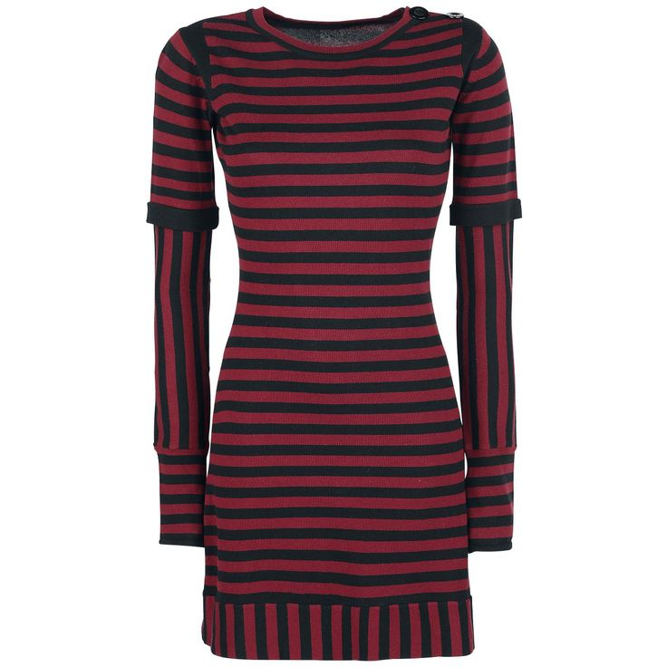 - Knitwear - Crew neck - Long sleeves  With the Knit Stripe Dress the fashion designers at Pussy Deluxe have become little chipmunks. The long knitted sweater, that you can also wear as a dress, is decorated with stripes that travel in different directions. The fine knitwear is comfortable on your skin and keeps you warm.