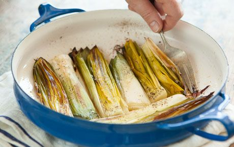 Oven Roasted Leeks // Simple and delicious, leeks may not be your first memory from past holidays, but they may be what you remember from this year.
