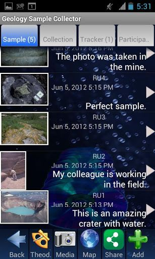 The Geology Sample Collector allows you to track and document your field work incorporating images, video, audio recordings, and/or text. It also allows you to track (with GPS) your path and enables the data to be synchronized to our website, edit, and/or share your work with others.You can also allow colleagues to view your work during or after your field trip by sharing it through your website, social networks, e-mail, etc. Once the collecting is uploaded to your website, you can edit the…