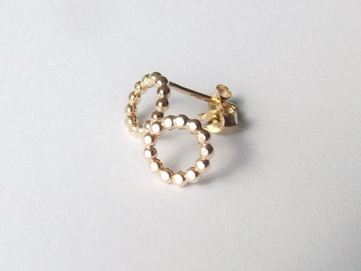 Karma Earrings,Stud Earrings,Circle Studs,Karma Studs,Circle Earring Studs,Simple Earring Studs,Simple Gold Stud Earrings,Circle Earrings by FULLMOONJEWELLERY on Etsy https://www.etsy.com/listing/235331369/karma-earringsstud-earringscircle