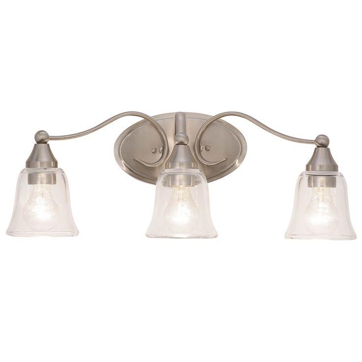 Kichler hamden 3 light 8 5 in brushed nickel bell vanity light bar