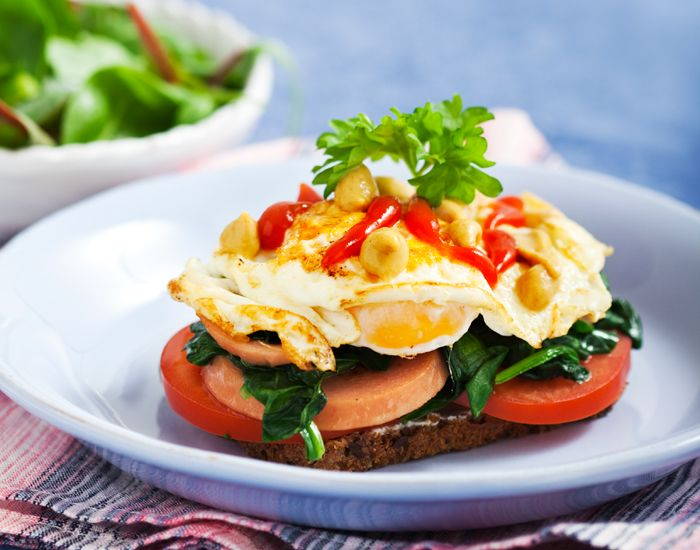 Lunchsmörgås med korv och ägg   MåBra - Nyttiga recept