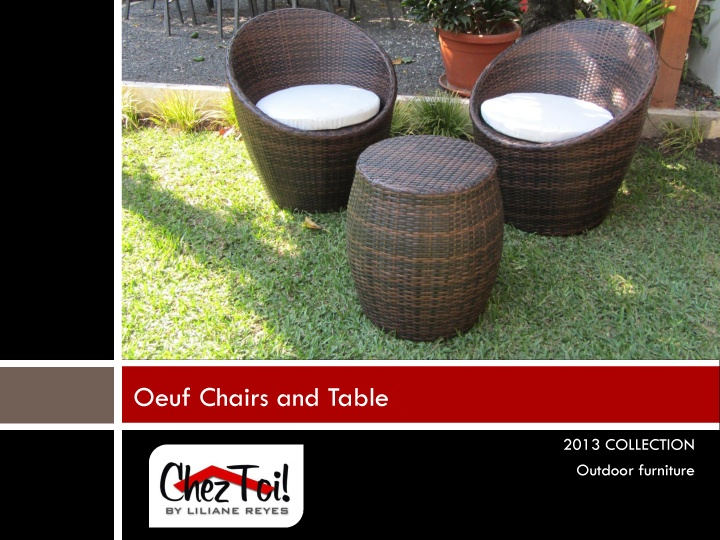 Oeuf Chairs and Table $499.00