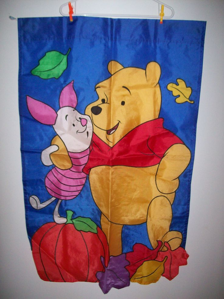 Winnie The Pooh Garden Flag - We Got Character