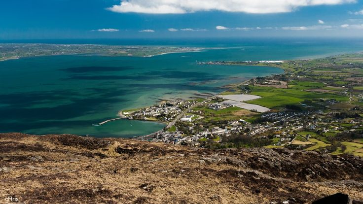 The Cooley Peninsula and Carlingford, as seen from the slopes of Sliabh Feá