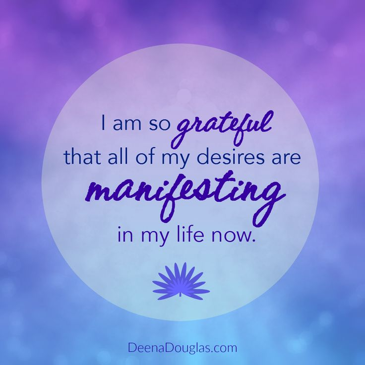I am so grateful that all of my desires are manifesting in my life now. #affirmation #lawofattraction