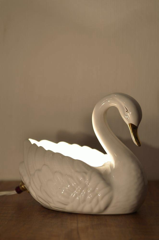 Swan light. Www.lostandfoundry.co.uk