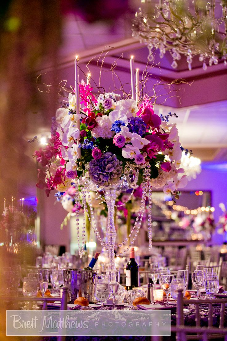 Loving This Purple And Lavender Fl Crystal Chandelier Centerpiece