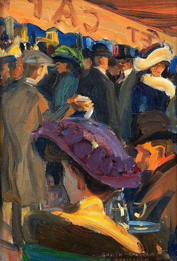 "Akseli Gallen-Kallela 1865-1931 ""CAFÉ IN PARIS"""