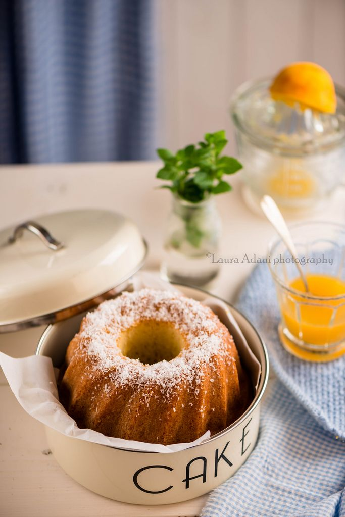 Torta yogurt e cocco al profumo d'arancia