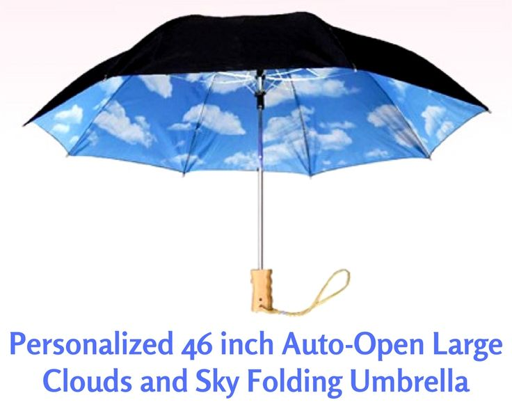 """Why not provide more comfort for your customers by gifting them the custom 46"""" auto-open large clouds & #sky #folding #umbrella?  Why not provide more comfort for your customers by gifting them the custom 46"""" auto-open large clouds & #sky #folding #umbrella?"""