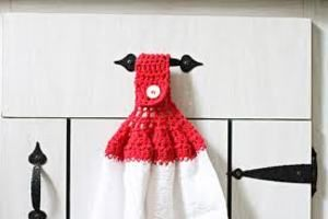 crocheted towel toppers patterns for free | ... THIS IS A CROCHET PATTERN! Dish Towel Top Crochet Pattern – Pattern