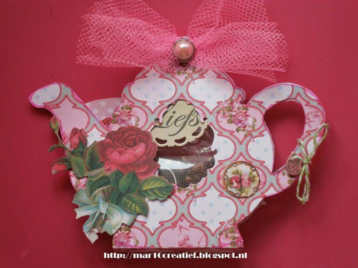 teapotcard theepotkaart kort Kart kaarten papercraft gift creatief knutselen basteln Mar10=Creatief loom