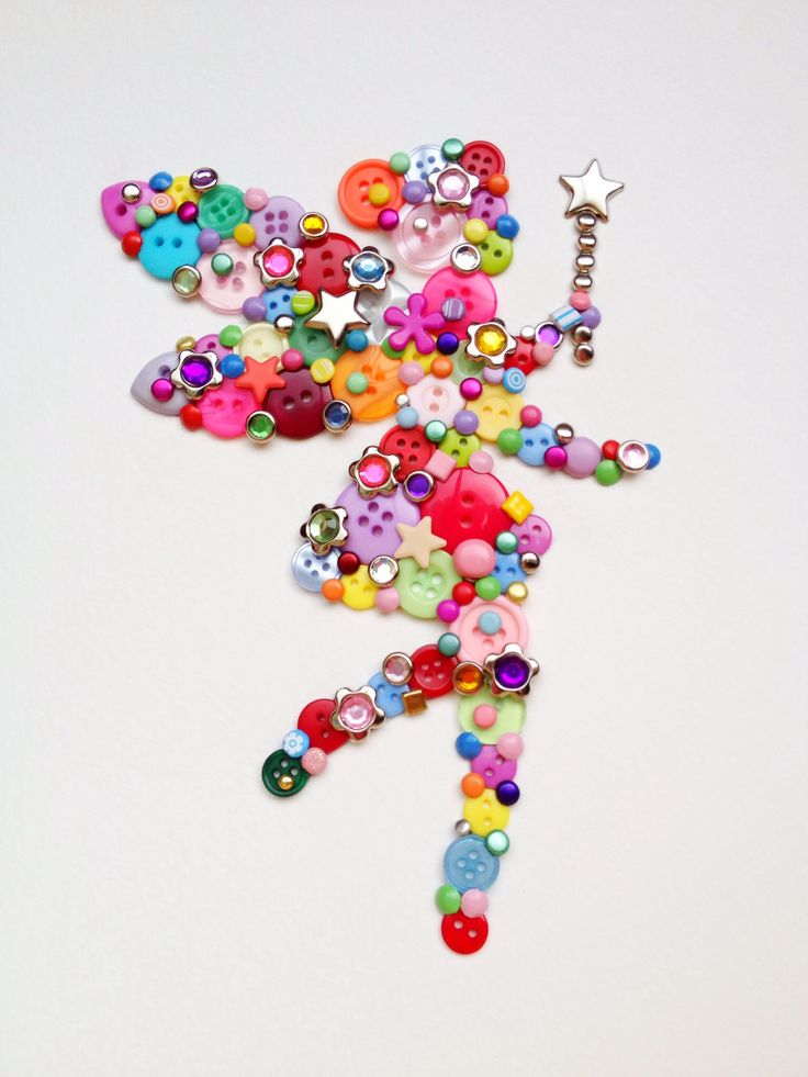 Button art fairy