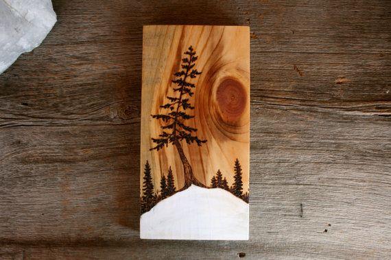 Tancerz Sztuka śnieg spalanie drewna bloku na Etsy przez TwigsandBlossoms