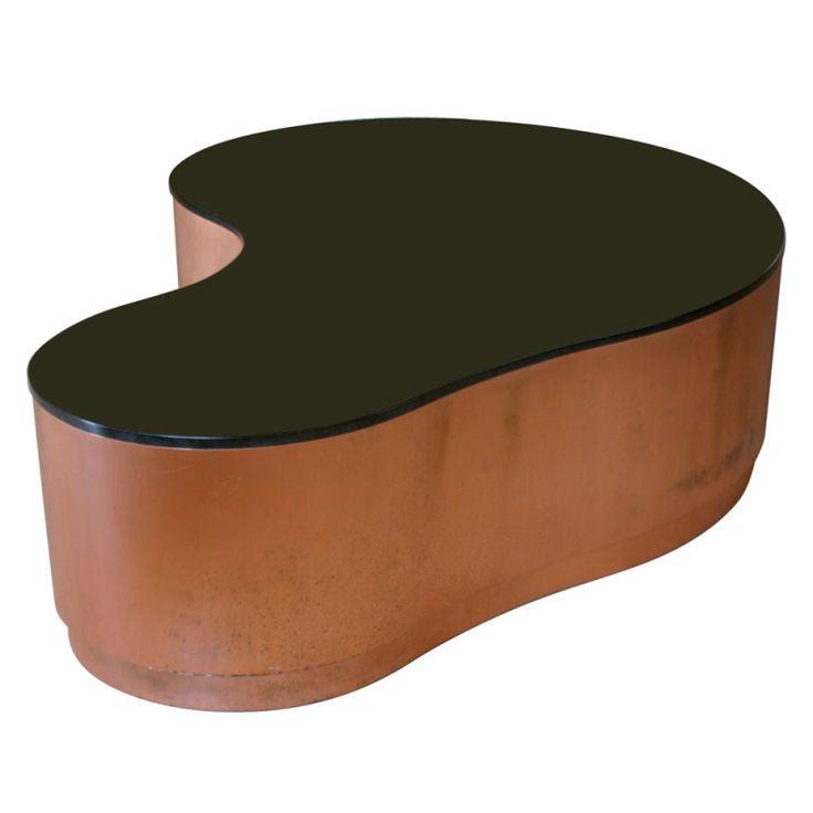 Huge Custom Biomorphic Copper And Granite Coffee Table