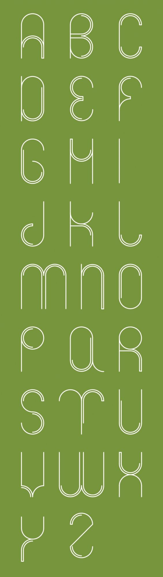 Circle font- What do you think? Is this slightly Art Deco inspired?