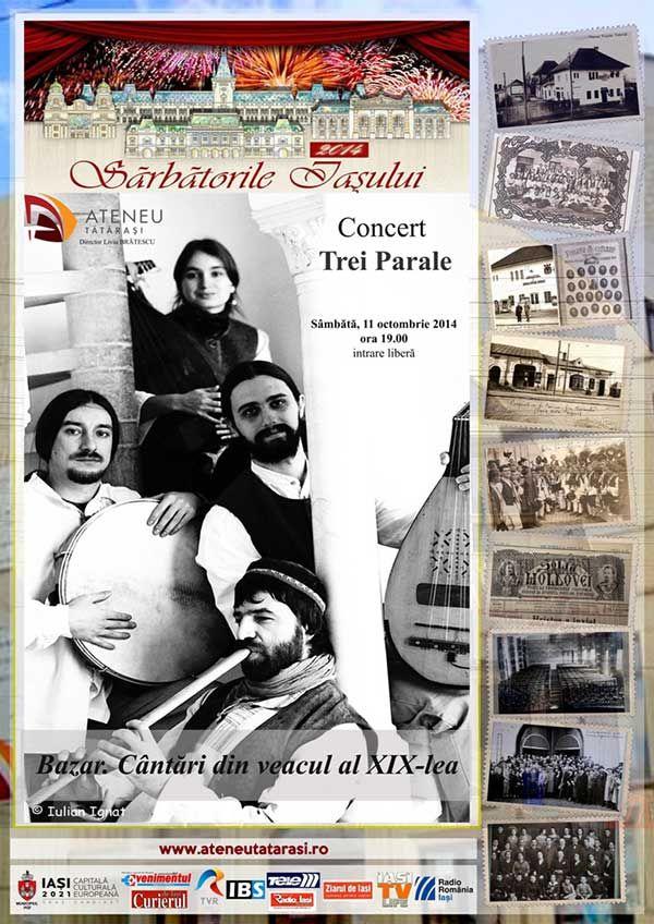 Programul Ateneului Tatarasi in perioada Sarbatorilor Iasului!