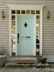 Street Number Door Decal