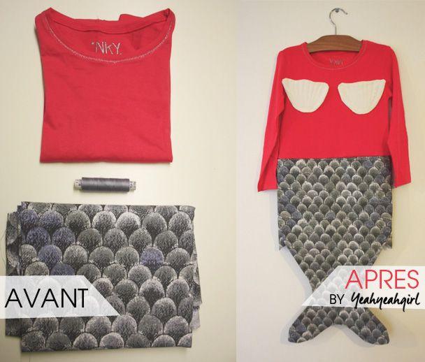 DIY : le déguisement de sirène | KIABI Blog - Conseils mode - Tendances femme, homme, enfant - Coulisses de Kiabi