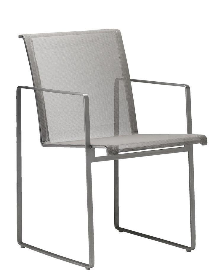 Sillon garden dining chair, designed by Henk Steenbakkers for FueraDentro -  Holland. Minimalist garden