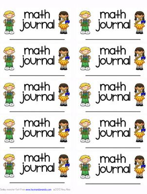 FREE ~ Math Journal labels ~ Math Notebook from Amy Alvis on TeachersNotebook.com -  (2 pages)