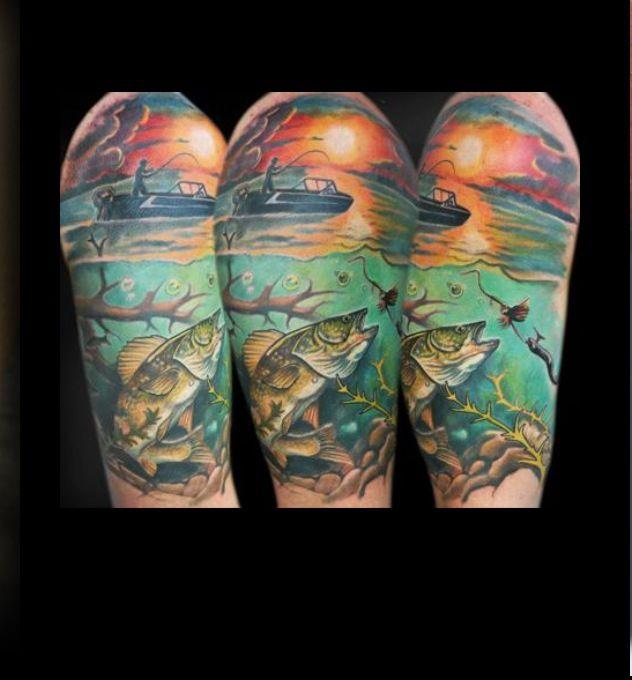 cool fishing tattoos