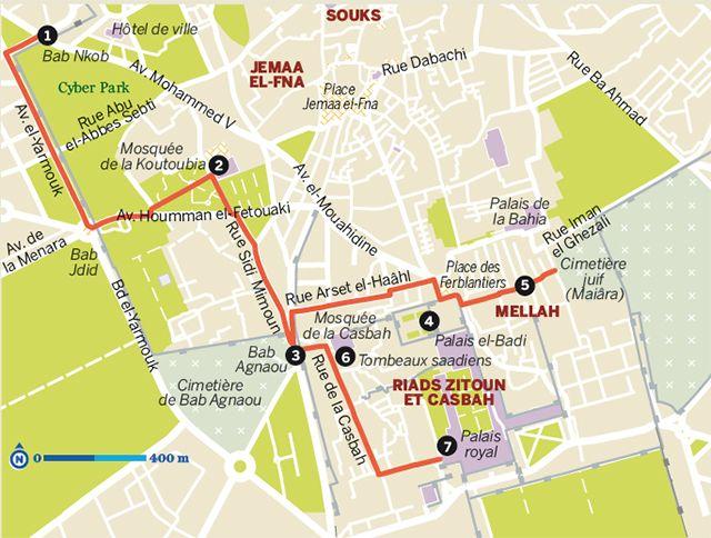 Plongez dans l'histoire de Marrakech et découvrez ses souks grâce à nos itinéraires dans la vieille ville.