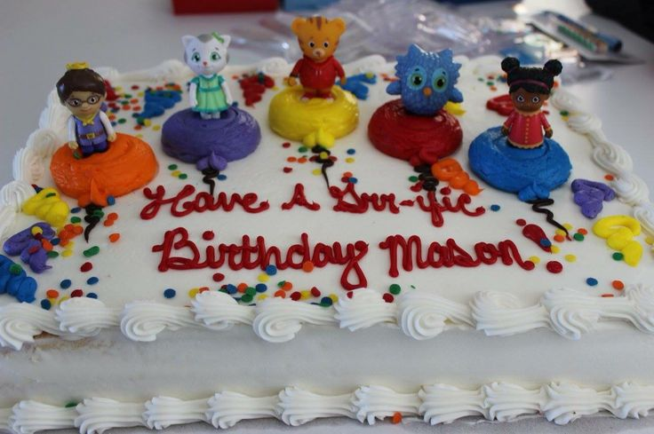 Daniel Tiger cake Got a Costco cake & bought the figurines from Amazon.