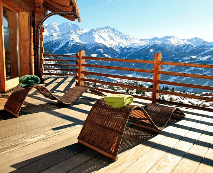 Verbier Switzerland - Le chalet D'Adrien. This 5-star hotel has rooms (and views) to die for.