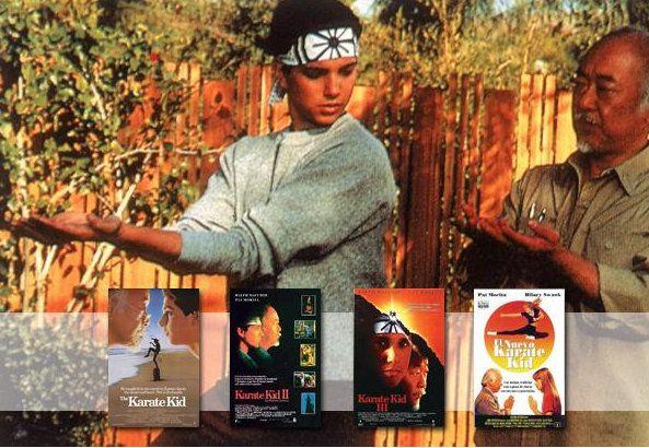 LA SAGA  El impulso del 'Karate Kid' original dio para tres entregas más. 'Karate Kid II, la historia continúa' y 'Karate Kid III, el desafío final' aún aguantaron con los Macchio, Morita y alguno de sus enemigos ente el reparto, pero con 'El nuevo Karate Kid' se intentó revitalizar la saga y acabó hundida. En esta última el papel de Macchio fue para Hilary Swank, antes de ganar sus dos Oscar. ¿QUÉ FUE DE... EL REPARTO DE 'KARATE KID?  Las enseñanzas del profesor Miyagi a su alumno calaron…