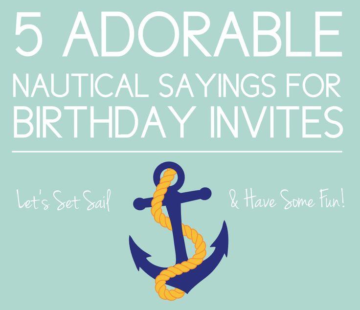 5 Nautical Sayings