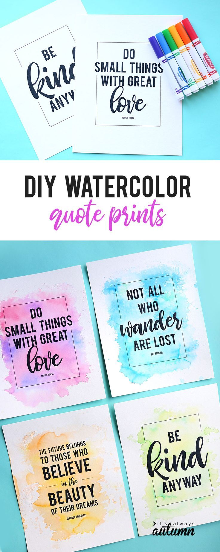 Make Gorgeous Cheater Watercolor Prints Using Markers Water