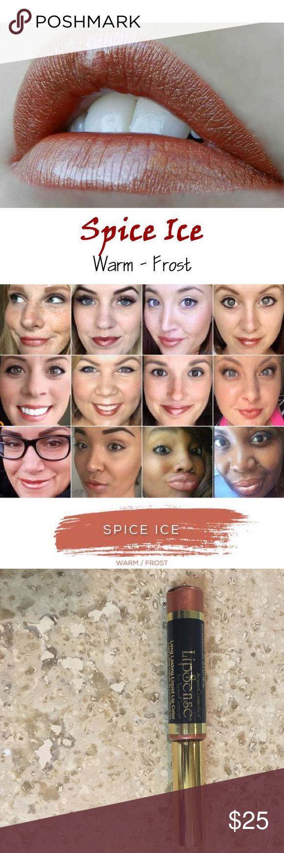 Lipsense Spice Ice 18 Hour Lipcolor Top Seller New Brand new, sealed! Spice Ice is a top selling warm nude color.  The premier product of Senegence, LipSense lasts all day – up to 18 hours. It is water-proof, kiss-proof, smudge-proof, and completely budge-proof. LipSense comes in a variety of captivating colors and can be layered to produce your own custom look.  Must be used with a Lipsense gloss. Brand new, sealed!  COMMENT BELOW WITH YOUR EMAIL TO GET DISCOUNT INFORMATION, I always sell…