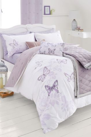 Buy Cotton Rich Mauve Butterfly Bed Set online today at Next: Israel