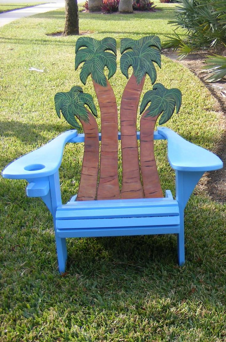 Hand Crafted Adirondack Chair - Palms Design by Island Time Design   CustomMade.com