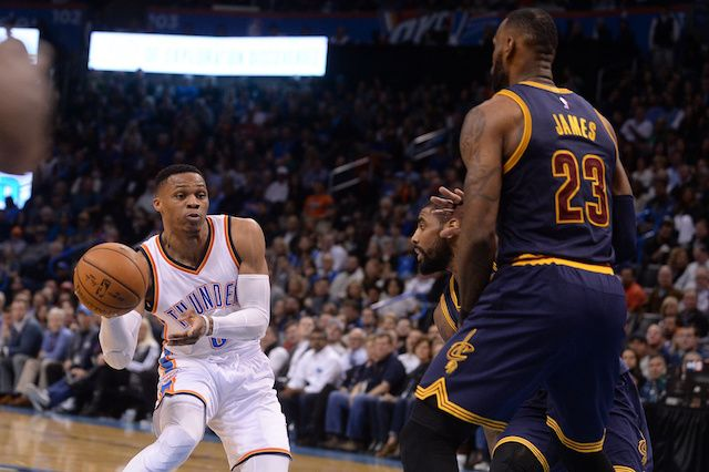 Former NFL player Chad Johnson hinted on Twitter that Paul George, LeBron James, and Russell Westbrook could all be joining the Los Angeles Lakers.