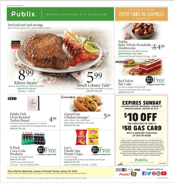 Publix Weekly Ad January 24 - 30, 2018 - http://www.olcatalog.com/grocery/publix-weekly-ad.html