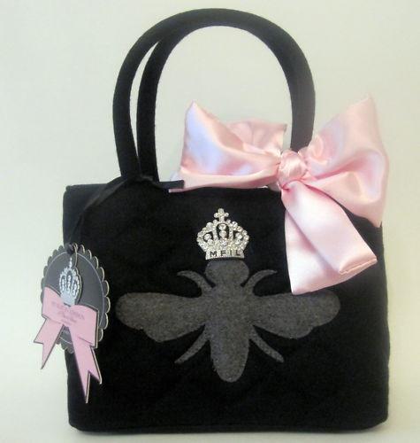 My Flat In London Quilted Wool Handbag W Grey Bee Bnwt Ebay Love These
