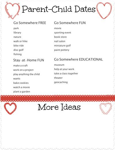 Valentine's Day Gift Idea - 1:1 special time with mommy or daddy