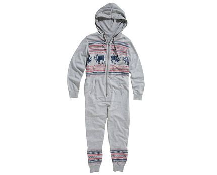 Men's Grey Fairisle Print Onesie