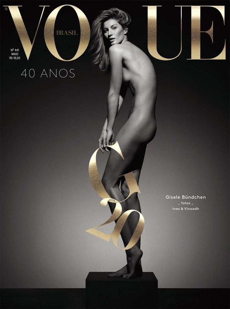 Comemoração dupla: 40 anos da Vogue e 20 anos de Gisele na edição ...