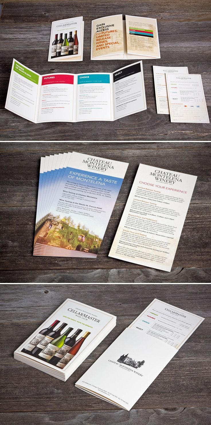 Chateau Montelena Winery | Wine Club Brochures and Sign Up Forms | by designthis!