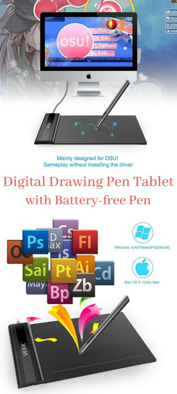 Yay drawing tablet! I want it! OSU!Tablet VEIKK S640 6x4