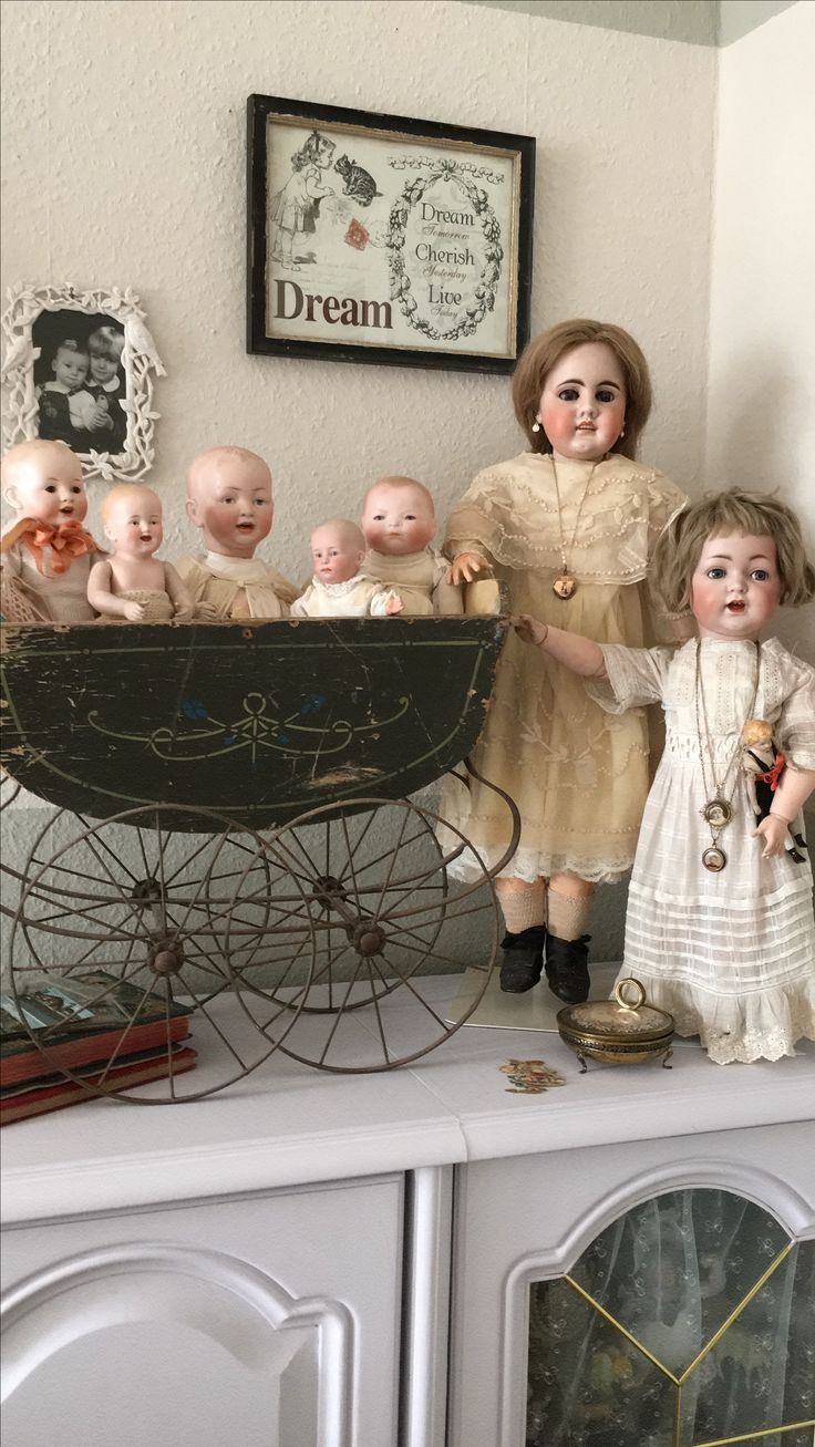 Antique Doll Collection ... beautifully displayed.
