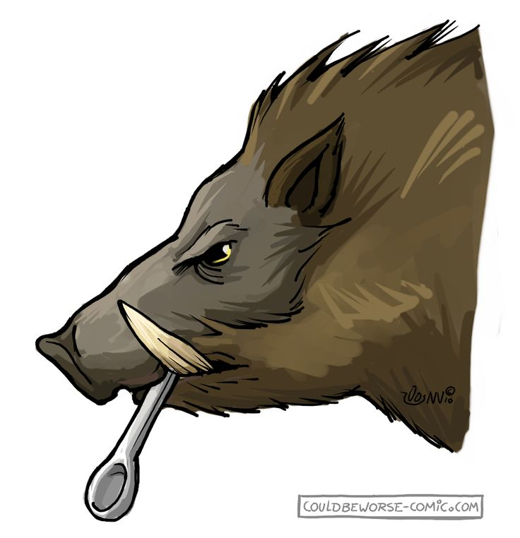 Autumn (herfst) symbol, boar with spoon, made for gamesnstuff.com