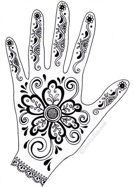 henna hand-ontwerpen met patronen