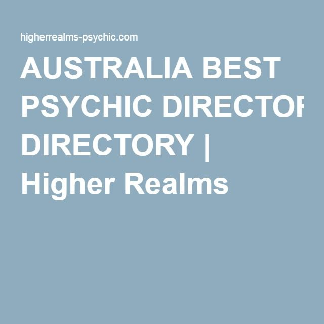 AUSTRALIA BEST PSYCHIC DIRECTORY | Higher Realms