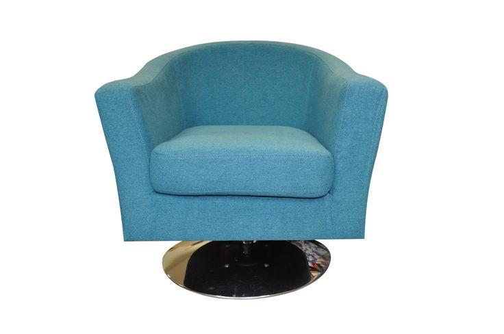 Fotel obity Malagą nr 17 - najmodniejszy odcień niebieskiego w tym sezonie :)  #furniture #armchair #textile #upholstery
