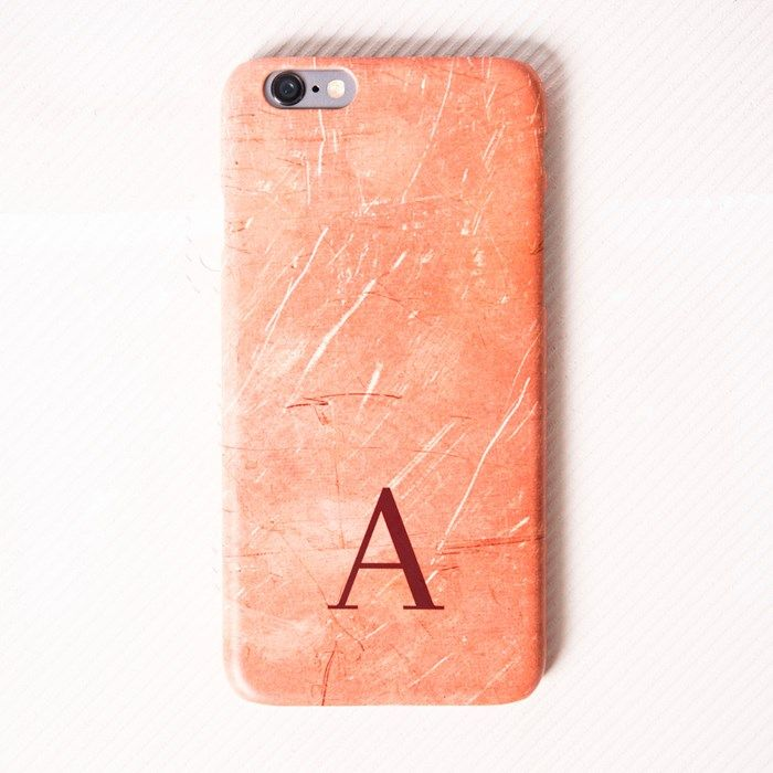 Personalised iPhone Plus Snap Cover - Rose Gold Initial | GettingPersonal.co.uk